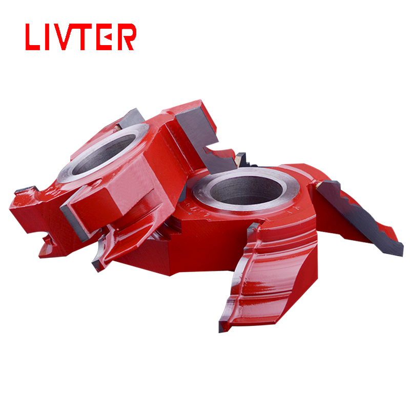 LIVTER Angle Button Cutter End Mill Door Frame Decorative Jointer Knife Wood Shaper Cutter Head Woodworking Tool 4 Teeth