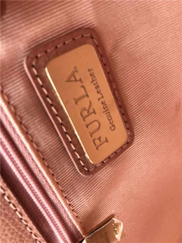 Oryginalny FURLA torebki damskie, wysokiej jakości damskie Furla skórzane torby naga różowy kolor rozmiar 25cm x 9cm x 17cm