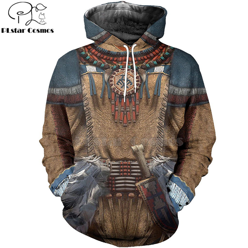 PLstar Cosmos Native Indian 3D Hoodies/sweatshirts Print Autumn Winter Men/women's Slim Long Sleeve Streetwear