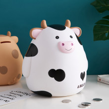 Large-capacity lucky cow piggy bank personalized cute coin piggy bank home decor bookshelf decor desk decor money saving box
