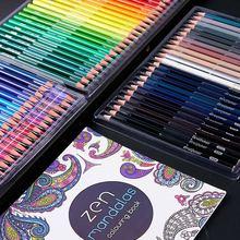 Aibelle 120/150/160/180 색상 오일 색상/수채화 물감 부드러운 밝은 나무 연필 세트 스케치 연필 아티스트 학교 용품