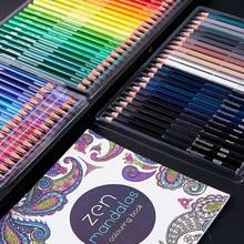 Aibelle 120/150/160/180 couleurs couleur à l'huile/aquarelle couleur doux lumineux bois crayons ensemble croquis crayon artiste fournitures scolaires