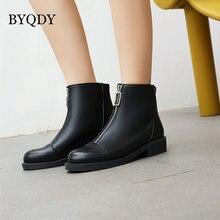 Byqdy/женские ботинки из лакированной кожи на молнии спереди;