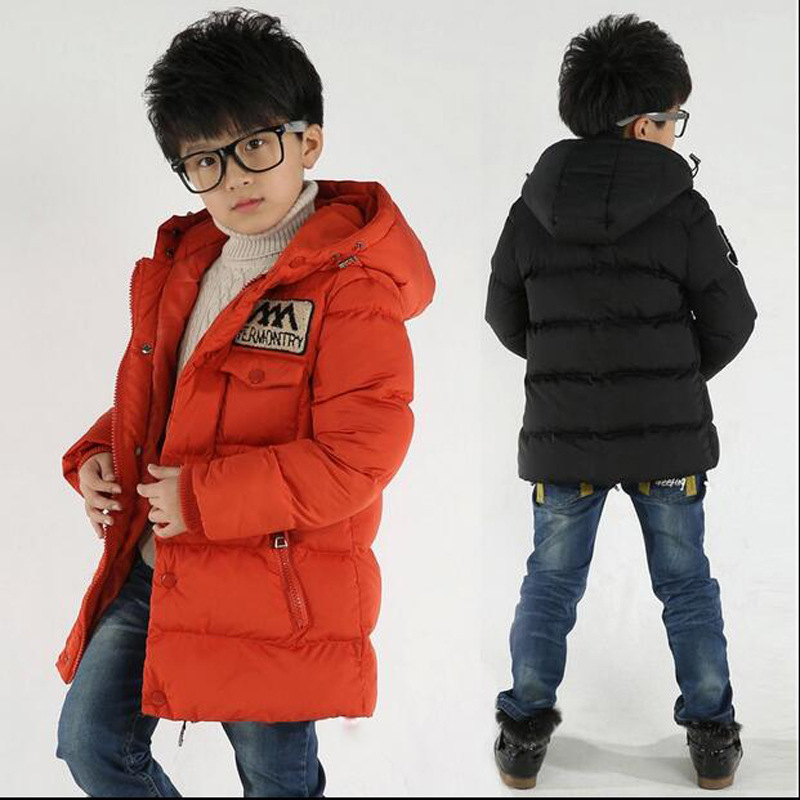 Boys Parka <font><b>Winter</b></font> Jacket <font><b>Children</b></font> Kids Coat Down Cotton Snowsuit <font><b>Clothes</b></font> Thick Hooded 3 4 5 6 7 <font><b>8</b></font> 9 10 11 12 13 <font><b>Years</b></font> image