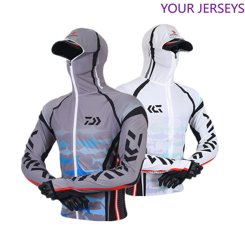 2020 Daiwa Clothing  New Arrival Men Fishing Clothing Outdoor Hooded Zipper Fishing Shirts Quick Dry Anti UV Fishing Jackets Daw