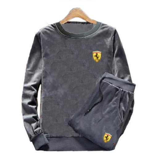 Men's Velour Velvet Sport Patch Tracksuit Track Suit Outwear 2PC Jacket Coat Pants Trousers Sets Long Slv Outfits