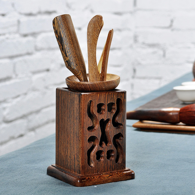 [GRANDNESS] Wenge Wood Cha Dao Set 6 Pieces Tea Utensils Kongfu Tea Set Accessories Chadao Six Gentleman Tea Ceremony