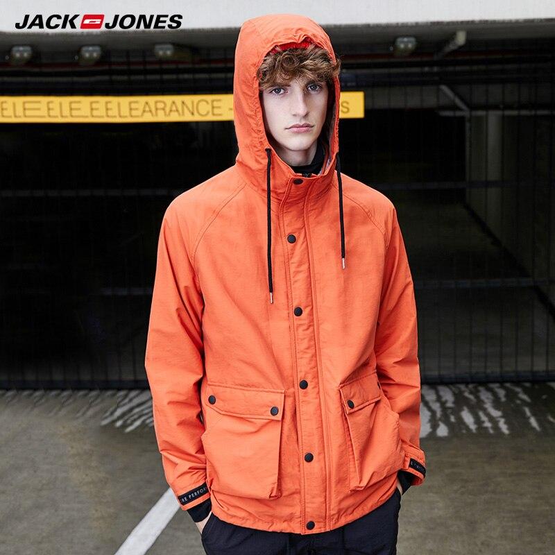 Jack Jones Mens Berber Fleece Lining Straight Fit Cotton Coat| 219309515