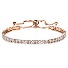 Ladies fashion adjustable white crystal bracelet gold charm wedding daily sweet jewelry romantic birthday gift FXM
