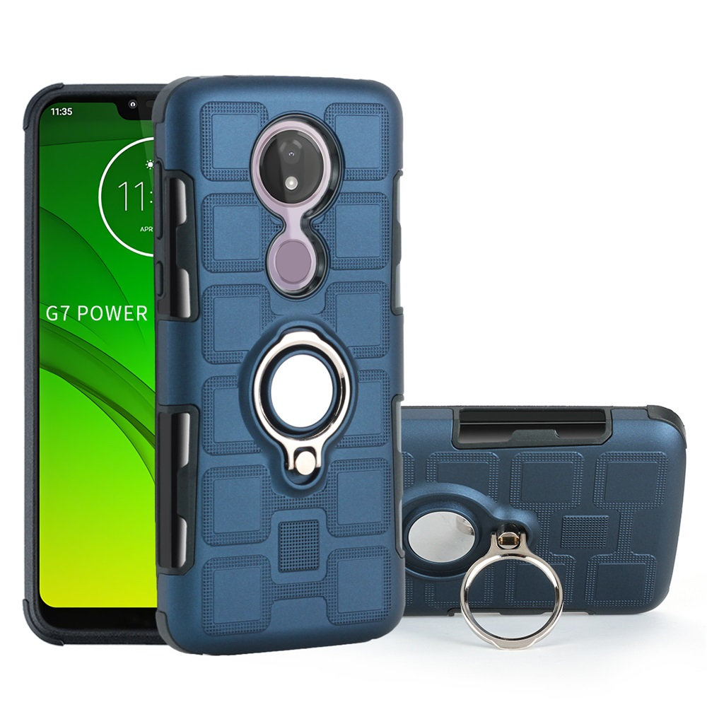 Armor Magnetic Ring Phone Case For Motorola MOTO E5 E6 G6 G8 One P30 Note Action Macro Visio Power Plus Play GO Back Cover