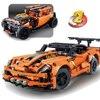Техника Decool набор Chevrolet Corvette ZR1 детский Супер гоночный автомобиль игрушки строительные блоки кирпичи Рождественский подарок