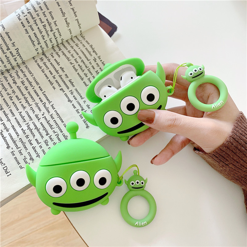 Silicone Cartoon Toy Story Alien Headphone Cases For Apple Airpods 1/2 Cute Protection Bluetooth Earphone Cover Skin Accessories
