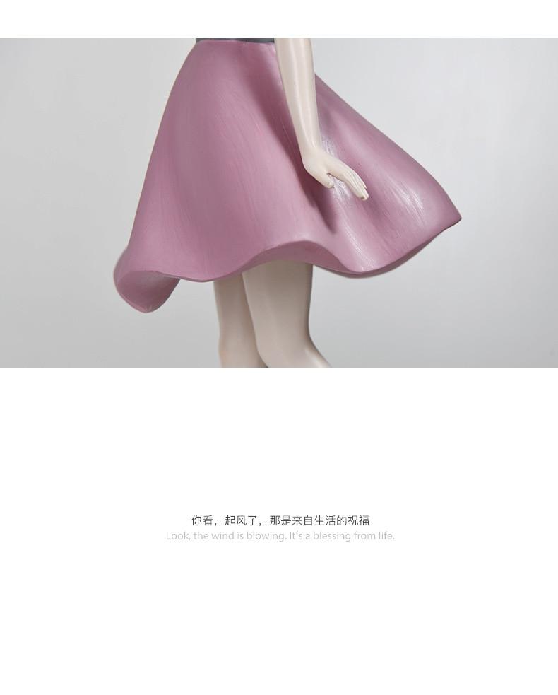 Bonito menina resina estátua escultura casa criativa