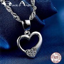 Подлинное 100% Стерлинговое Серебро 925 пробы кулон в виде сердца