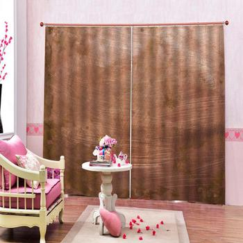 Solid color curtain Luxury Blackout 3D Window Curtains For Living Room Bedroom Customized size brown curtains