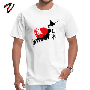 Nieuwe Aankomst Mannen T-shirt 100% Katoen T-shirt Japan Kaart Print T Shirts Japanse Stijl Kleding Katoen Stof Eenvoudige Kanji Tops tees