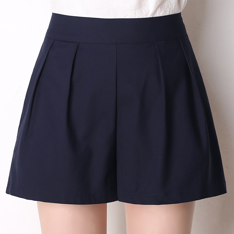 Women Summer 2020 New Candy Color Gray Emptied Skinny Shorts Casual Lady Elastic Waist Beach Black Color