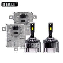 HIDLT 1 zestaw światła samochodowe D1S D3S LED reflektor samochodowy żarówka przeciwmgielna 55W biały wolne od błędów przetwornica Canbus na lampa czołowa LED zestaw do konwersji