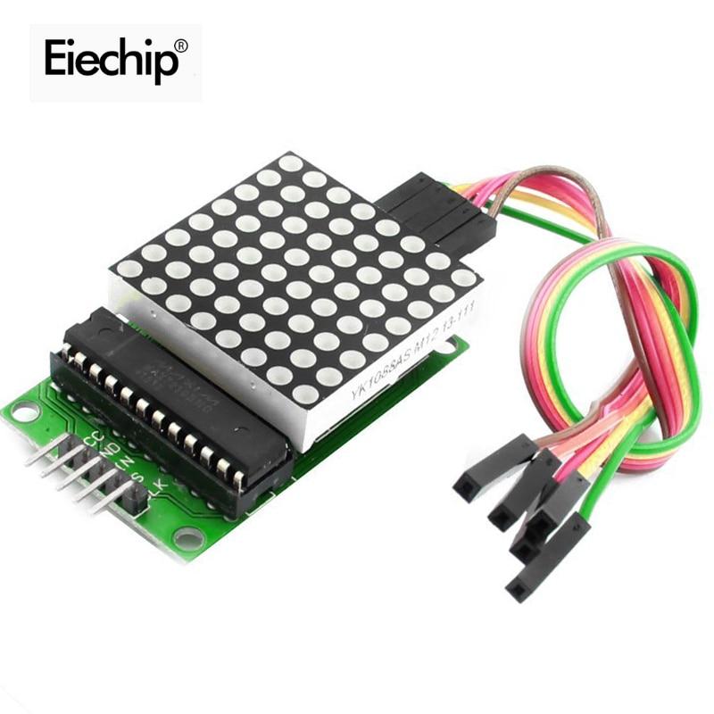 MAX7219 Dot Led Matrix Module 8*8 MCU LED Display Control Module For Arduino 5V Interface Module 8x8 Output Input Common Cathode