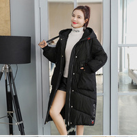 Corduroy New Winter Women Jackets Hooded Medium Long Wadded Jacket Female Thicken Cotton Padded Coats Russia warm Parkas Q009