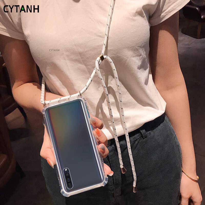 2ndSpring Funda con Cuerda Compatible con Samsung Galaxy A6 Plus 2018//A9 Star Lite,Colgante Collar Correa de Cuello Cadena Cord/ón,Rojo