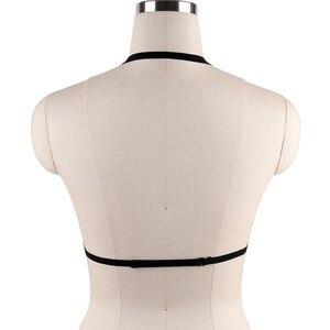 Image 3 - סקסי שחור גוף לרתום שעבוד שד מין צעצוע עבור Womern ארוטי הלבשה תחתונה חגורות אלסטיות רצועות חולצות בכלוב חזיות