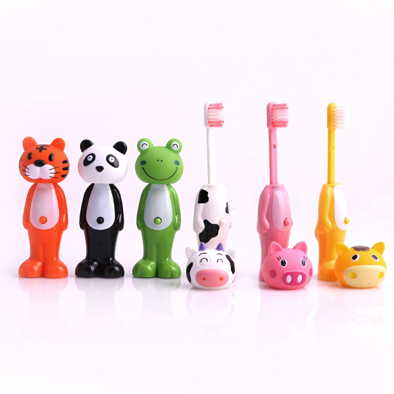 Cartoon Kids Toothbrush Children Soft Bristle Telescopic tooth Brus Mouth Clean image