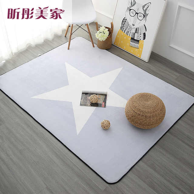 Alfombras de estilo nórdico de 120X180CM para sala de estar alfombras de dormitorio y alfombras de mesa de centro alfombra de área breve los niños jugar Mat