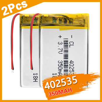polymer lithium battery 3.7V 402535 350Mah Rechargeable Li-ion Cell For GPS car recorder MP3 electronic dog MP4 MP5 Smart Watch image