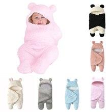 Детское одеяло для новорожденных; однотонное Хлопковое одеяло для сна с милой пандой; Пеленальный спальный мешок для мальчиков и девочек;# p4