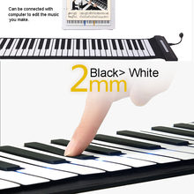 Portable Piano Flexible Digital Roll Up Piano Keyboard Silicone Folding Electronic Keyboard Built-in Speaker Musical Instruments