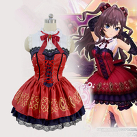 Hight Quality Anime THE IDOLM@STER CINDERELLA GIRLS Ichinose Shiki Gem Dress Woman Cosplay Costume Dress + Golves + Bowtie