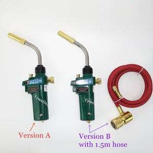 Mapp Welding Torch Piezo Ignition Gas Flame Soldering Tool 1.5m Hose CGA600 BBQ Heating Quenching HVAC Plumbing Brazing Torch(China)