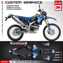 KUNGFU графика мотоцикл талон техосмотра Мотокросс Набор наклеек для Yamaha WR250R WR250X WR 250R 250X синий(Стиль № YMW25RX0819001-KO
