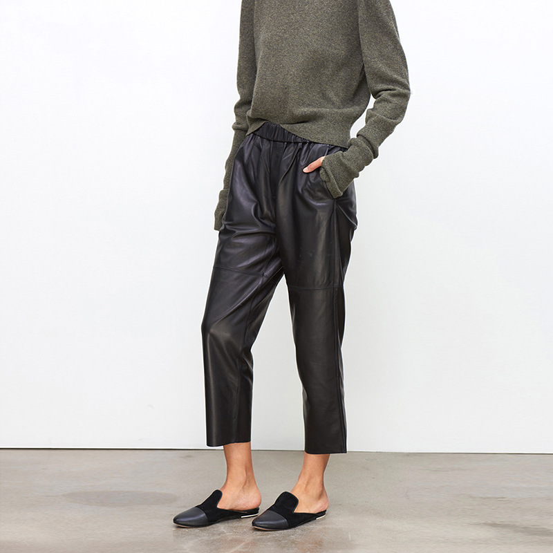 New Haining 100% Leather Trousers In Autumn  In Europe And America