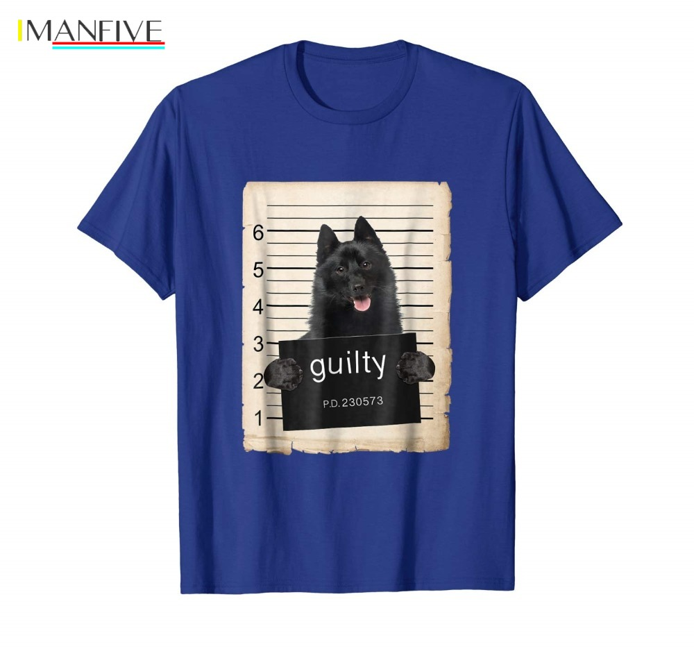 New Tops 2019 Print Letters Men T-Shirt Schipperke Dog mug shot bad dog Shirt