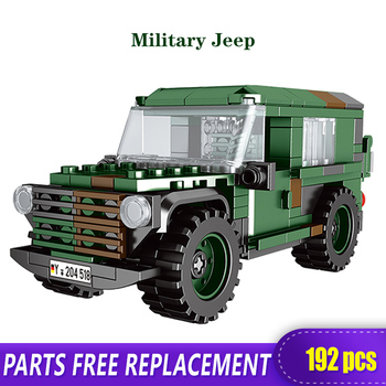 XINGBAO 06041 Army Theme The Offroad Car Technic Tank Building Blocks Military Truck WW2 Weapon Figures Bricks Toys for Boys the military technic xingbao new 06042 army theme armored tank building blocks ww2 weapon figures bricks boy s birthday toys