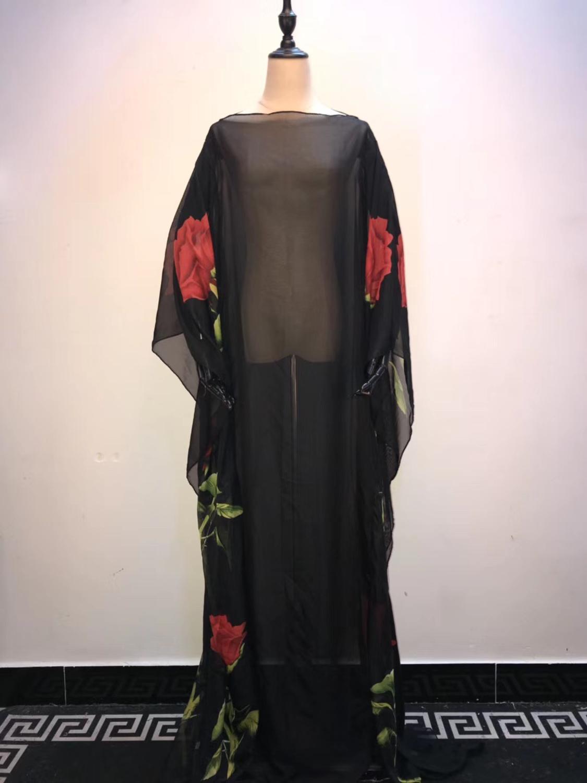 New Fashionable Italian Lady  Kaftan Free Size Loose Style Sexy Malaysia Kaftan Chiffon For Lady African Dresses For Women