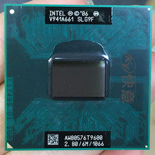 Intel cpu core 2 duo t9600 cpu 6m, cache/2.8ghz/1066/dual-core socket processador do laptop 478 gm45 pm45