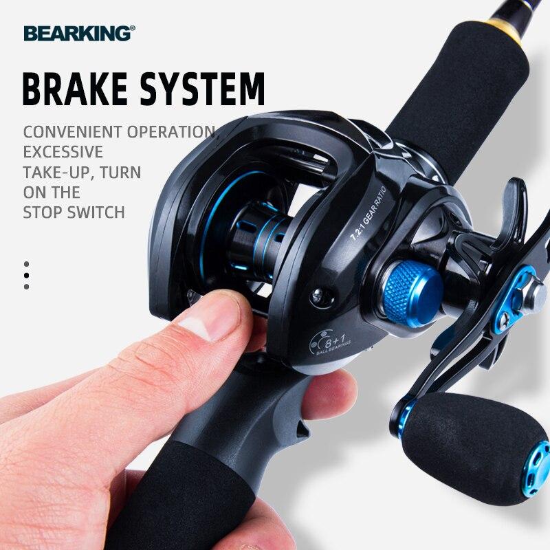 BEARKING Baitcasting Reel 8KG Max Drag 7.2:1 High Speed Fishing Reel Reinforced Reel Drag Reel Carp Drag Reel Fishing 6
