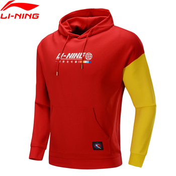 Li-Ning Men The Trend Knit Sweater Long Sleeve Hoodie Regular Fit 63% Cotton 37% Polyester LiNing Sports Tops AWDP613 MWW1623