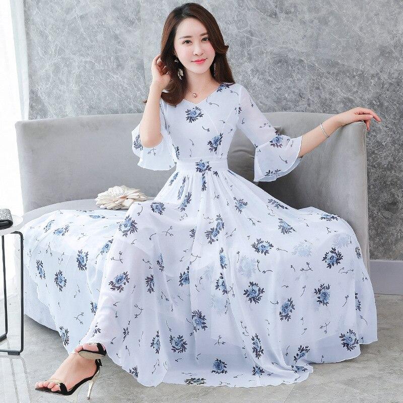 2020 New Women's Dress, Korean Fashion Dress, Chiffon Women's Dresses