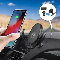 FDGAO 10W Car Mount Wireless Charger for iPhone 11 Pro XS Max XR X Qi Fast Charging Car Phone Holder For Samsung S10 S9 Note 10|Wireless Chargers| |  -