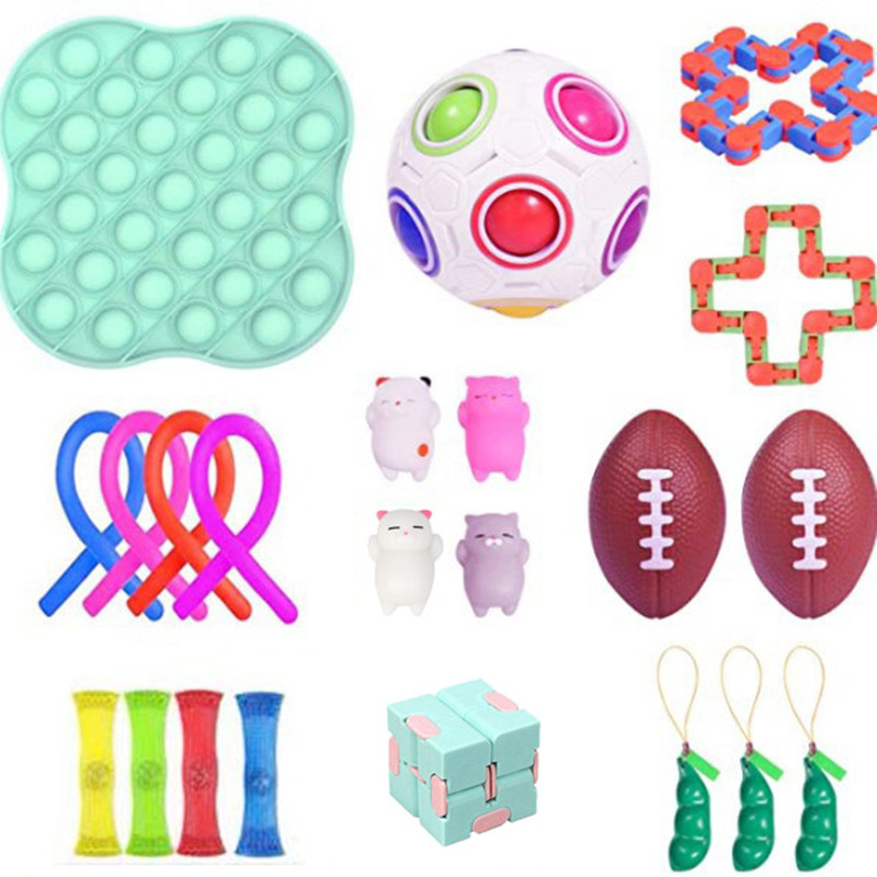 Fitget Toy Toy-Pack Fidget-Toys Antiestres-Chain Work-Stress Relieve Puzzle Sensory Adult img4