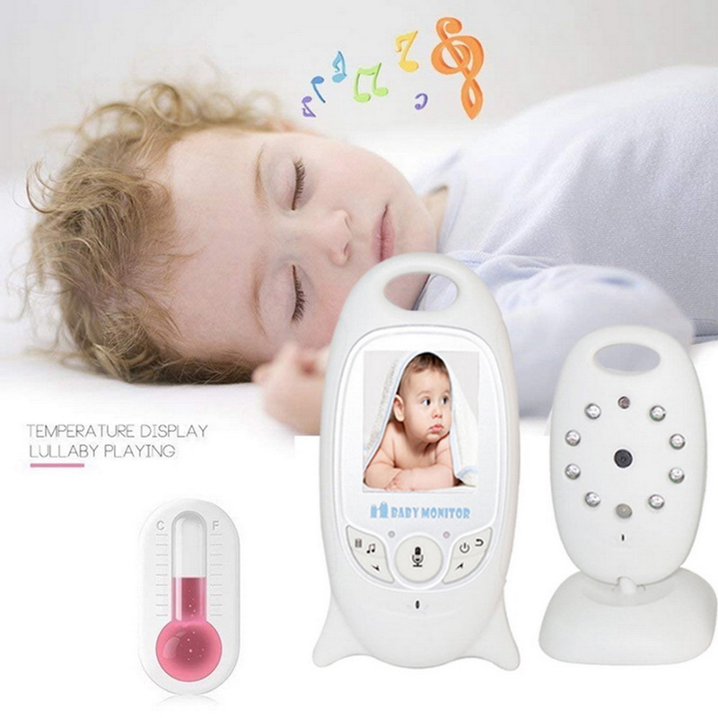 Wireless Video Baby Monitor 2 Way Talk Night Vision LED Temperature Baby Care 2 0 Inch Color Security LCD Screen Camera in Baby Monitors from Security Protection