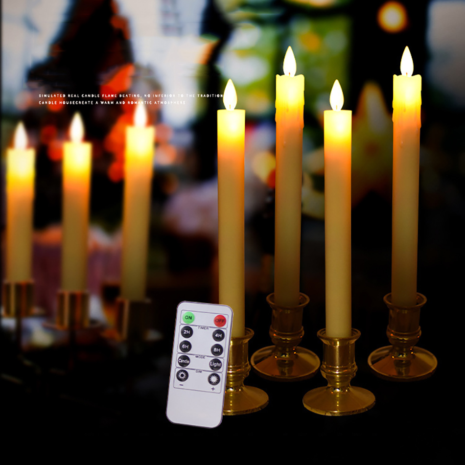 Dancing Flame Flameless Remote Control Pillar Led Candle For Hotel,Restaurant,Bars,Coffee Shop Atmosphere Table Light Decorative