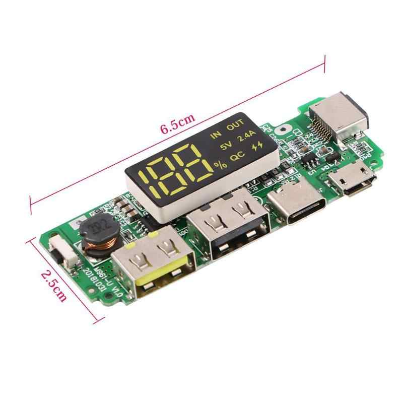 リチウム電池充電器ボード LED デュアル USB 5V 2.4A マイクロ/タイプ C Usb モバイル電源銀行 18650 充電モジュール回路保護