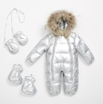 Children's down jumpsuit winter boys and girls ski thick clothing