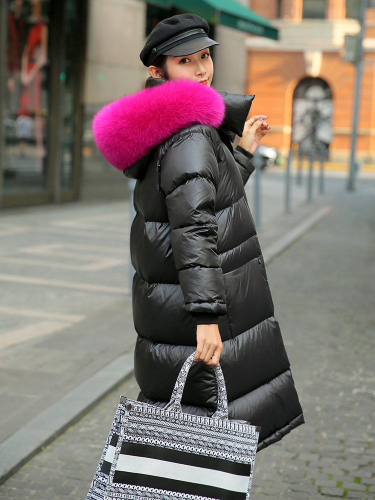 Winter Coat Female Thick Warm Women's Down Jacket Real Fox Raccoon Fur Hoode 2020 Korean Vintage Long Goose Down Coat 901