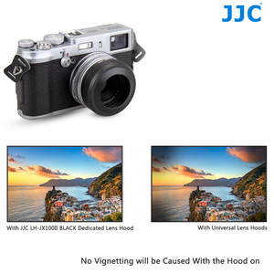 Image 4 - JJC Metal Lens Hood Shade with 49MM Filter Adapter Ring for Fuji FUJIFILM X100F X100T X100S X100 Camera Replaces AR X100 LH X100